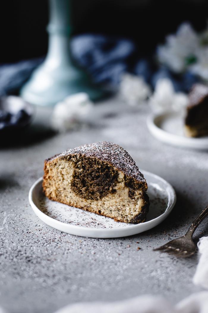Banana Coffee Bread - Banana Coffee BreadCoconut oil – 6ozRaw sugar – 1 cupUnbleached all purpose flour – 2 cupsBaking Soda – 1 TspGround cinnamon – ½ TspBananas, mashed – 2 largeVanilla Extract – 1 TspFine sea salt – ½ TspVanilla skyr or organic Greek yogurt – 4 to 5 ozEggs, at room temperature– 2 extra largeEspresso powder – 1+ TBSPHot water – ½ TBSPCoffee Powdered SugarConfectioner's sugar – ½ cupEspresso powder – 2 TBSP