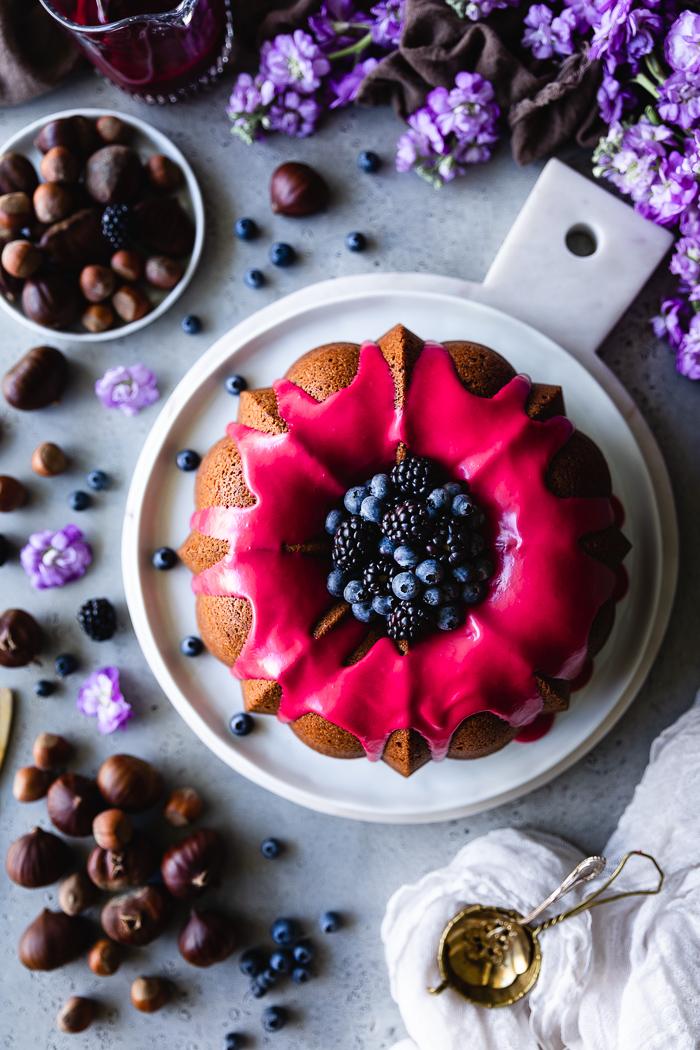 Roasted chestnuts cake recipe