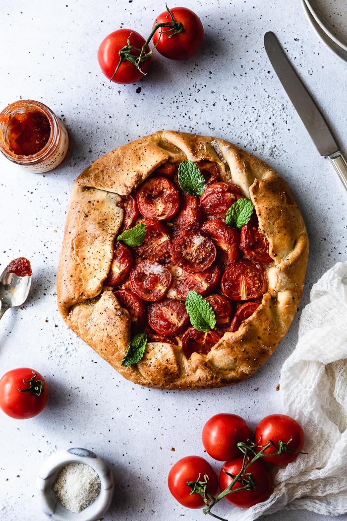 tomato & ricotta galette