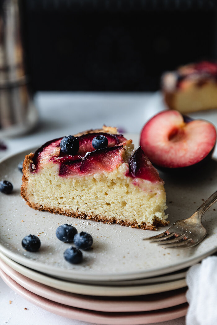 This plum cake bakes beautifully and is super soft and moist