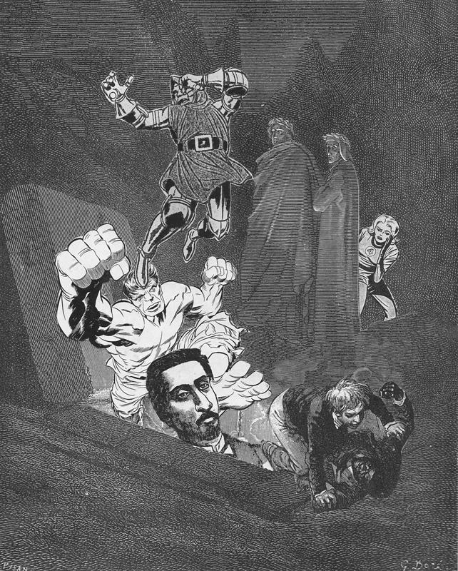 "Title: The Bats of Wisdom Series: Night Raking Dimensions: 8"" x 10"" Medium: collage  Date: 2017"