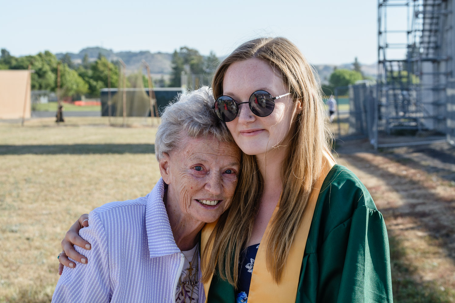 with her great, great aunt