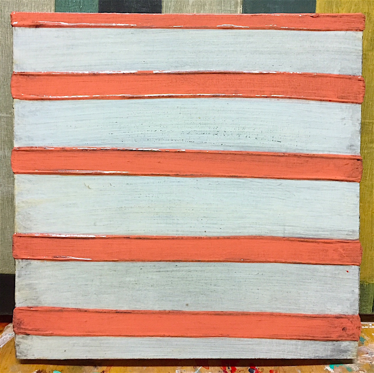 """Rich Vein"" acrylic on wood panel @lauranugentpaintings"