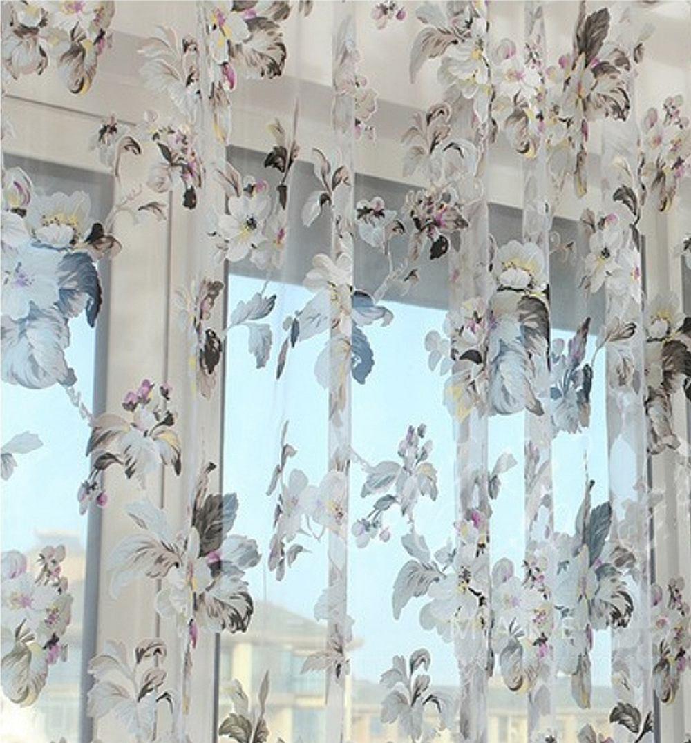 DMC477 - Dolce Mela Sheer Curtain Panels - Amsterdam