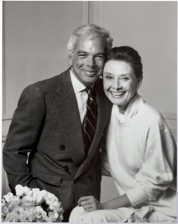 Ralph Lauren and Audrey Hephern