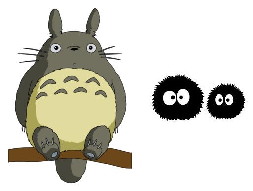 Totoro and susuwatari