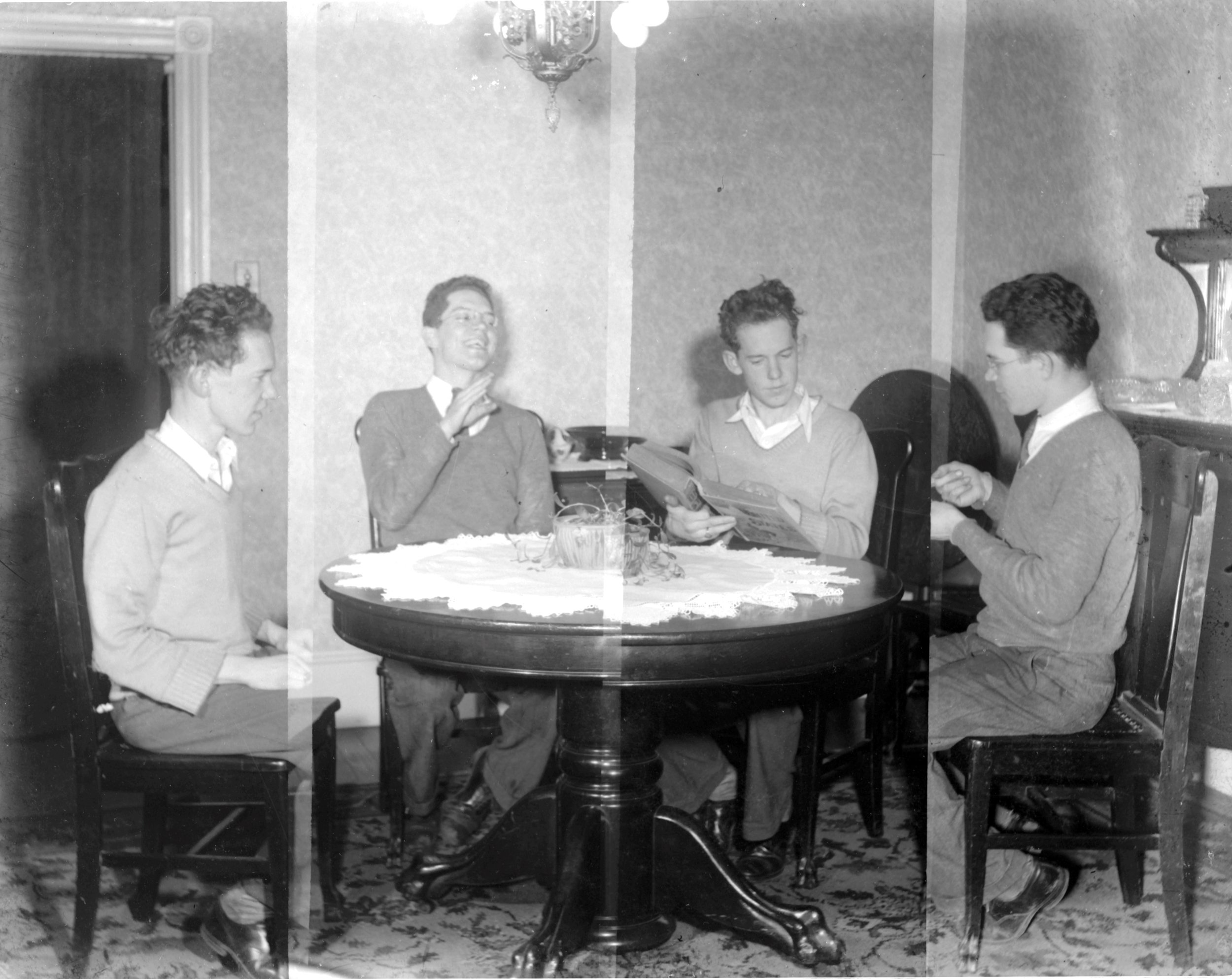 Film still of filmmaker, Arthur H. Virtue's 'trick shots', circa late 1930s.  (image courtesy of Virginia Errichetti)