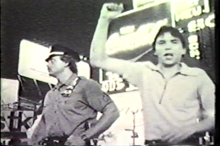 Demonstration against the filming of the movie  Cruising , Times Square, Summer 1979