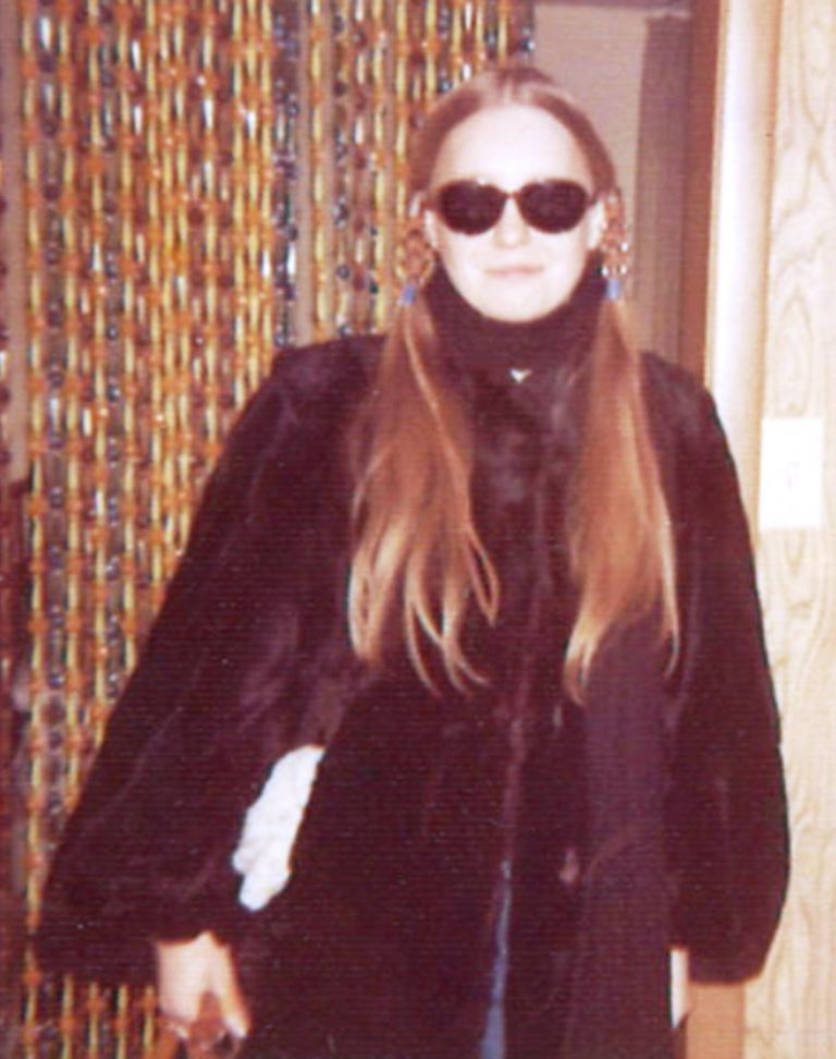 Judith Hammer in vintage fur coat, circa late 1960s/early 1970s (image copyright Judith Hammer)