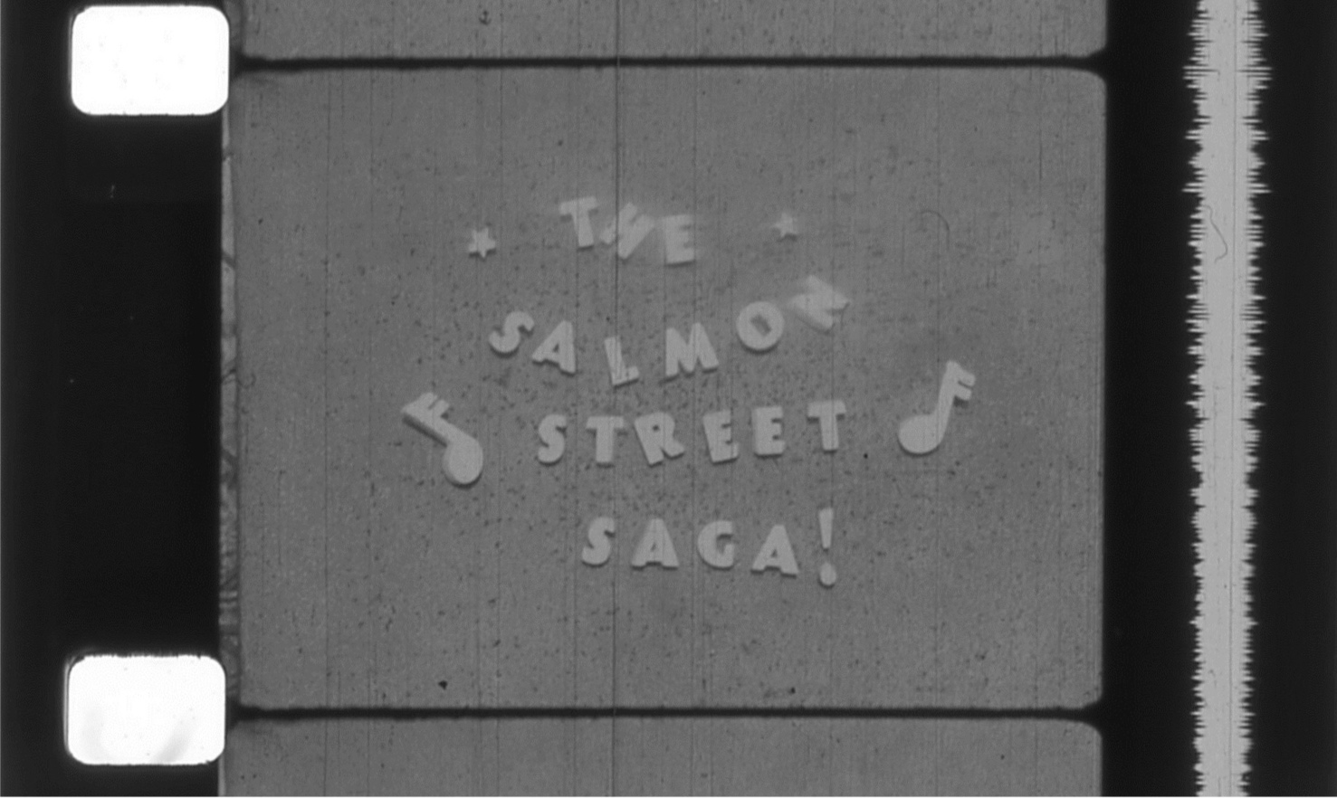 16mm film strip still,  The Salmon Street Saga  (1970), Tim Smith Moving Image Collection. Courtesy Oregon Historical Society. Image subject to copyright laws.