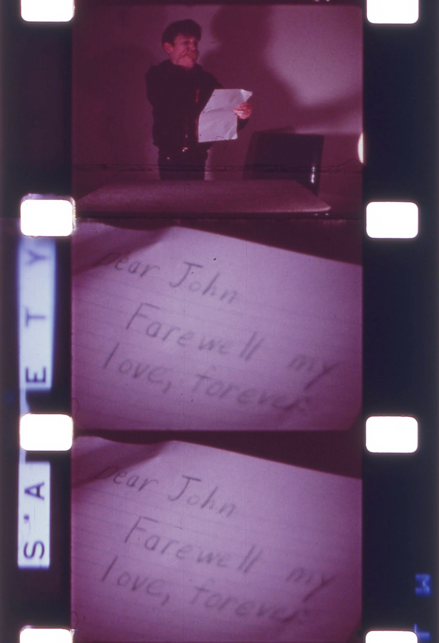 16mm film strip still,  Irritation and Frustration  (1968), Tim Smith Moving Image Collection. Courtesy Oregon Historical Society. Image subject to copyright laws.