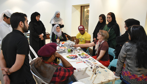 Alison teaching in Doha Qatar 2016