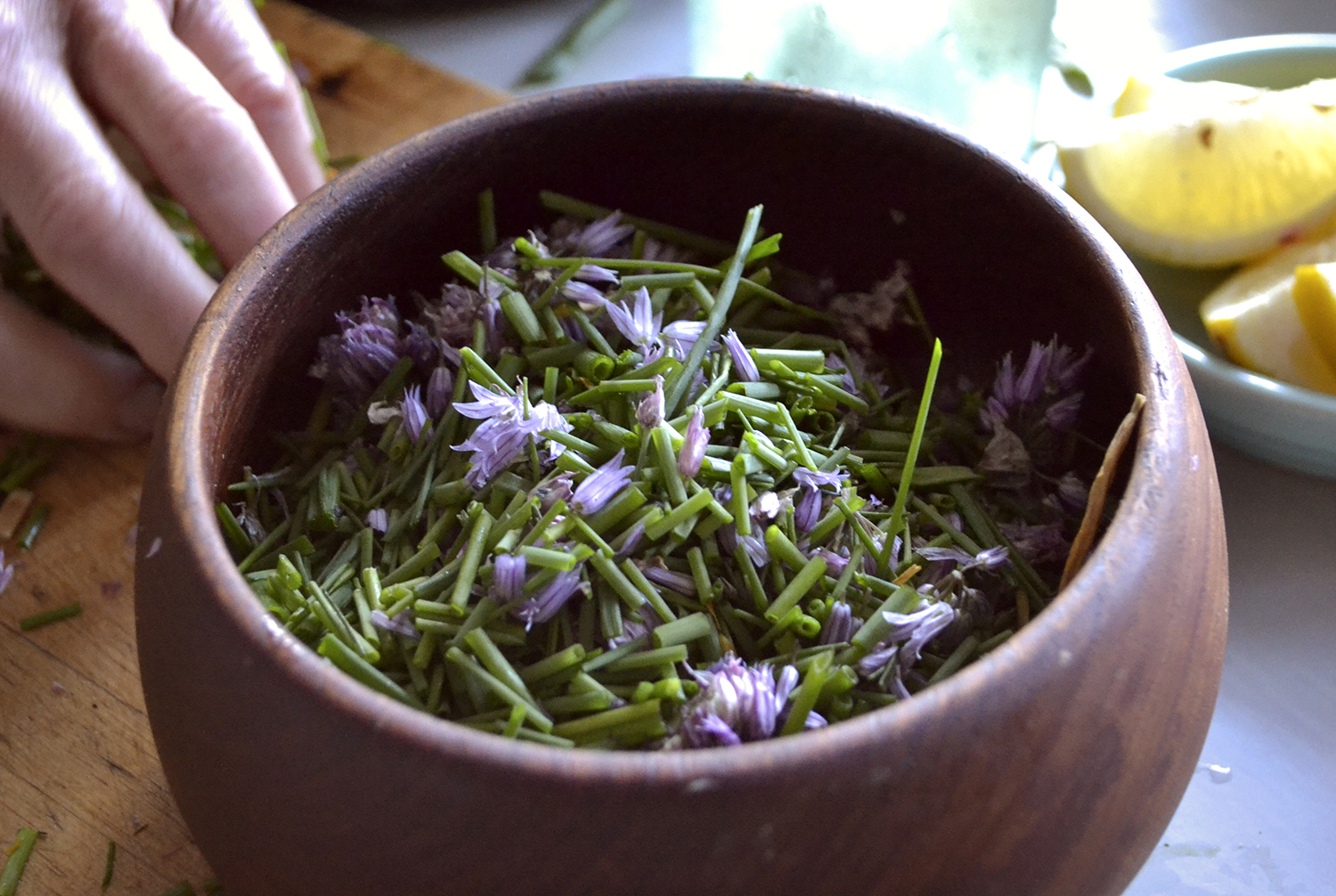 Chives and Blossoms