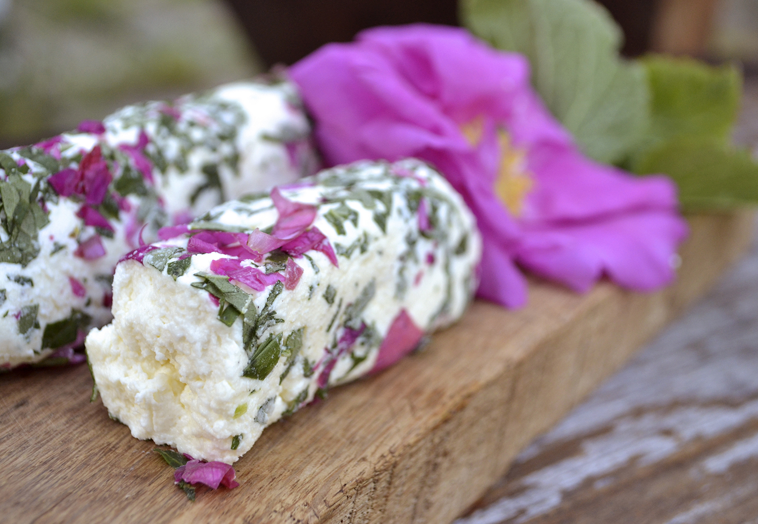 Rose Petal and Anise Hyssop Chevre