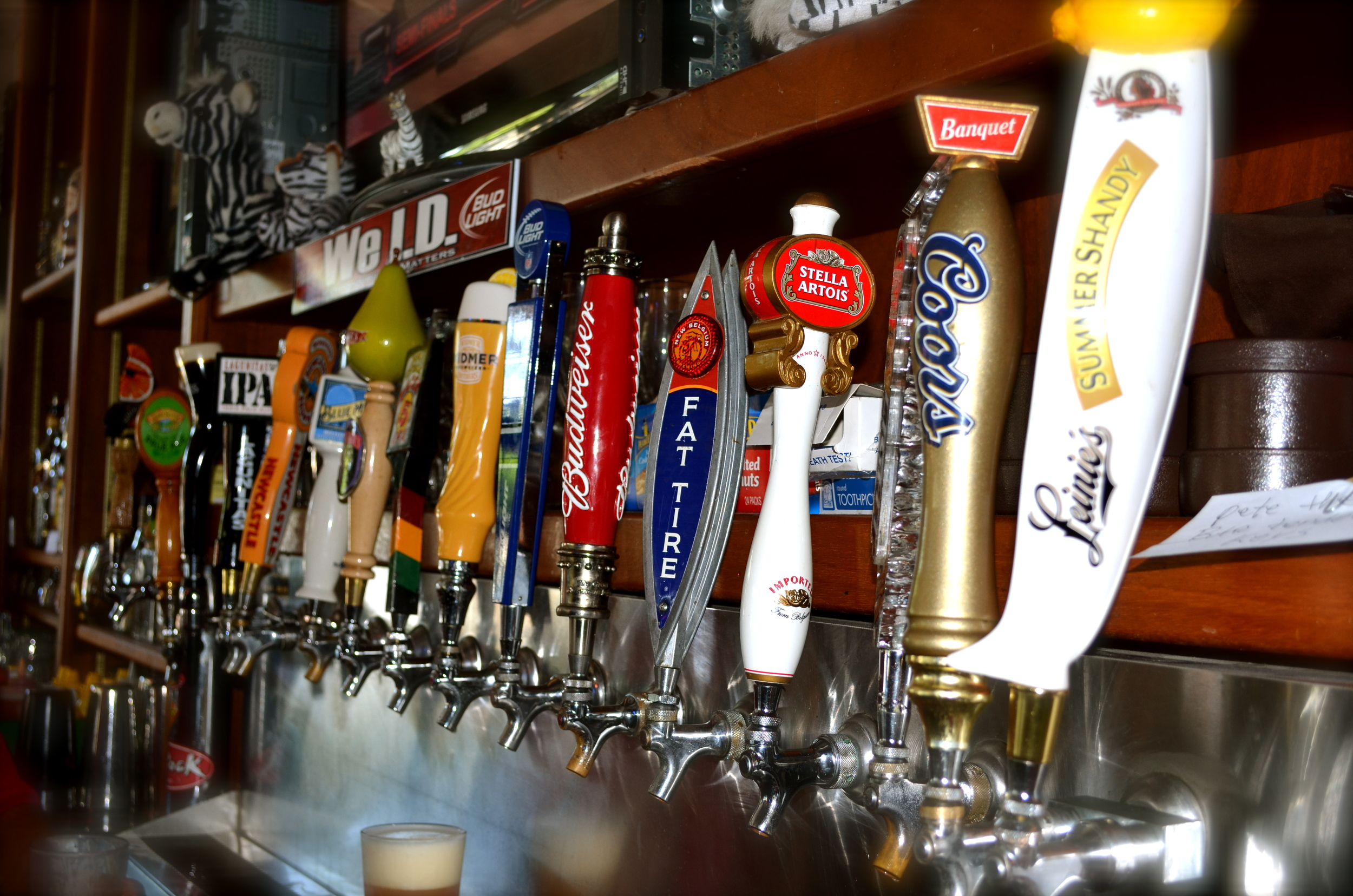 19+ beers on tap