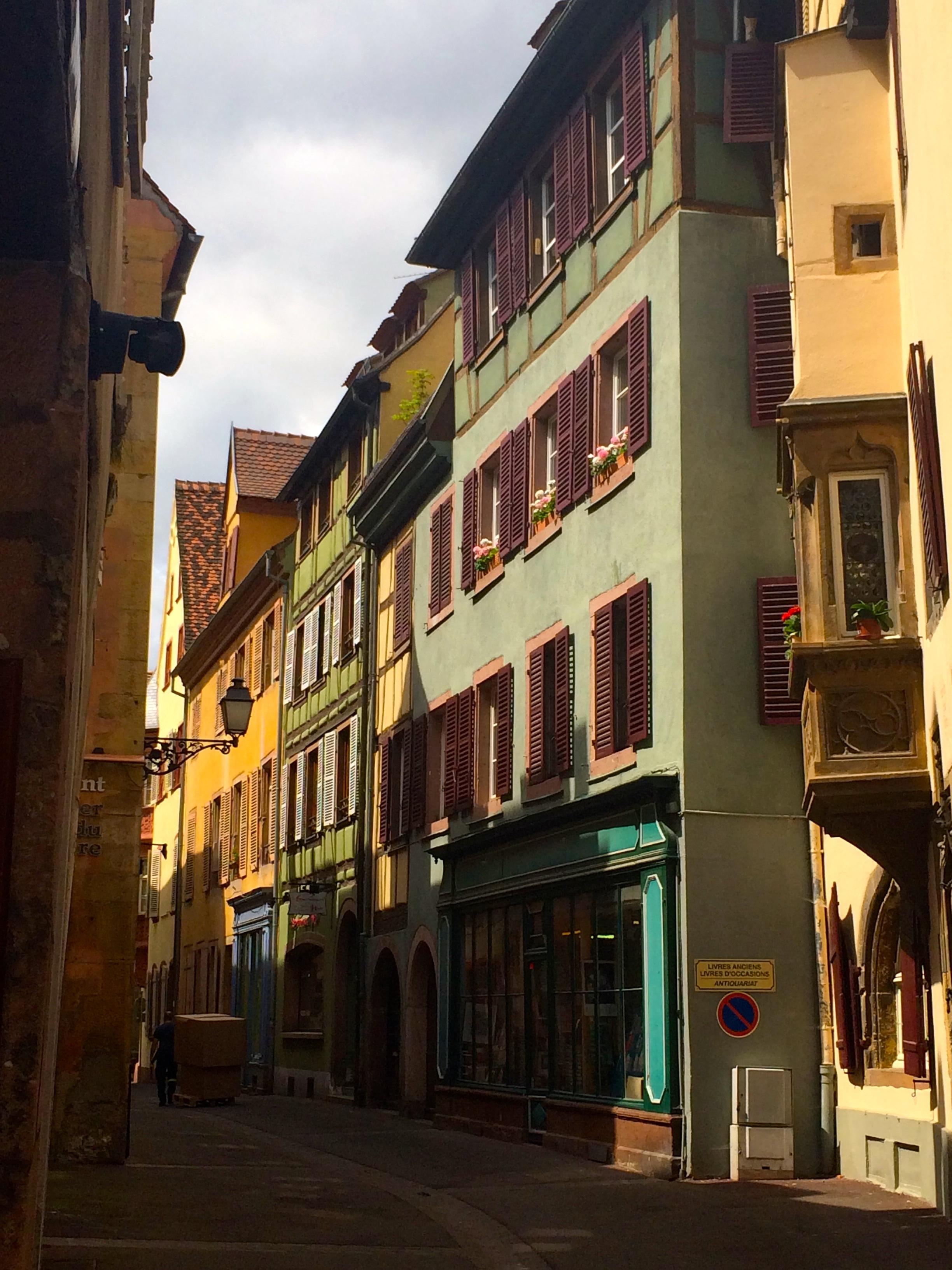 Beautiful street in Colmar