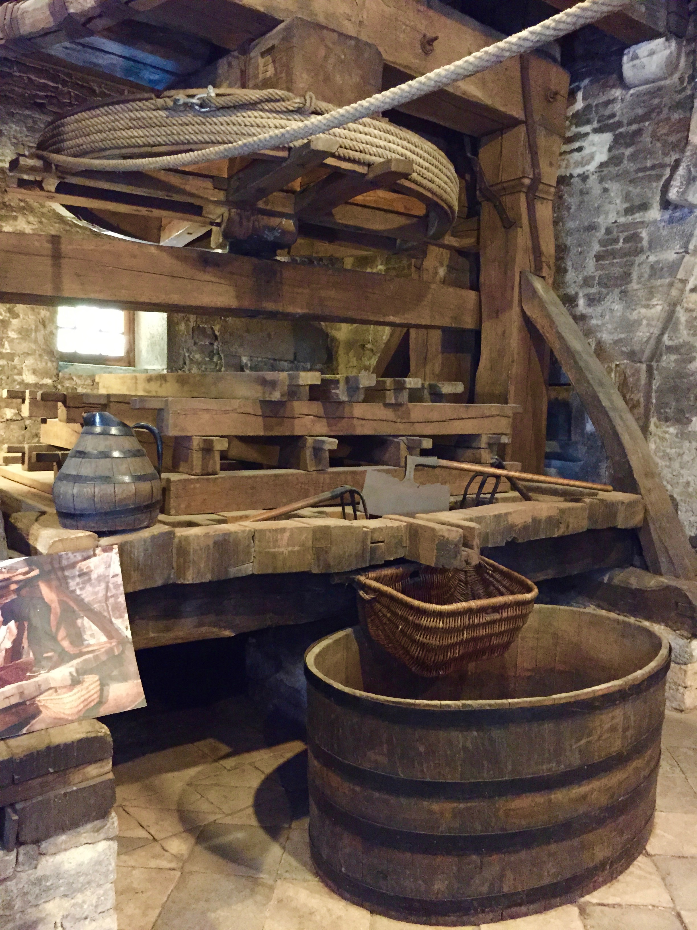 Ancient wine press, Joseph Drouhin, Beaune