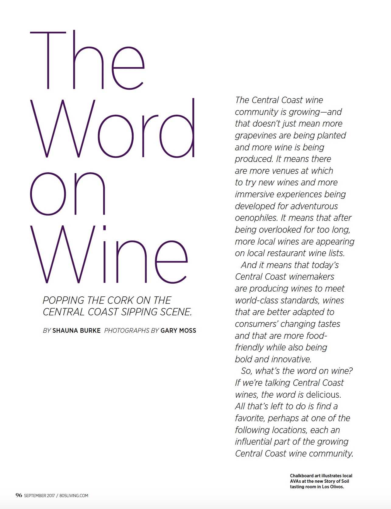 The Word on Wine / 805 Living