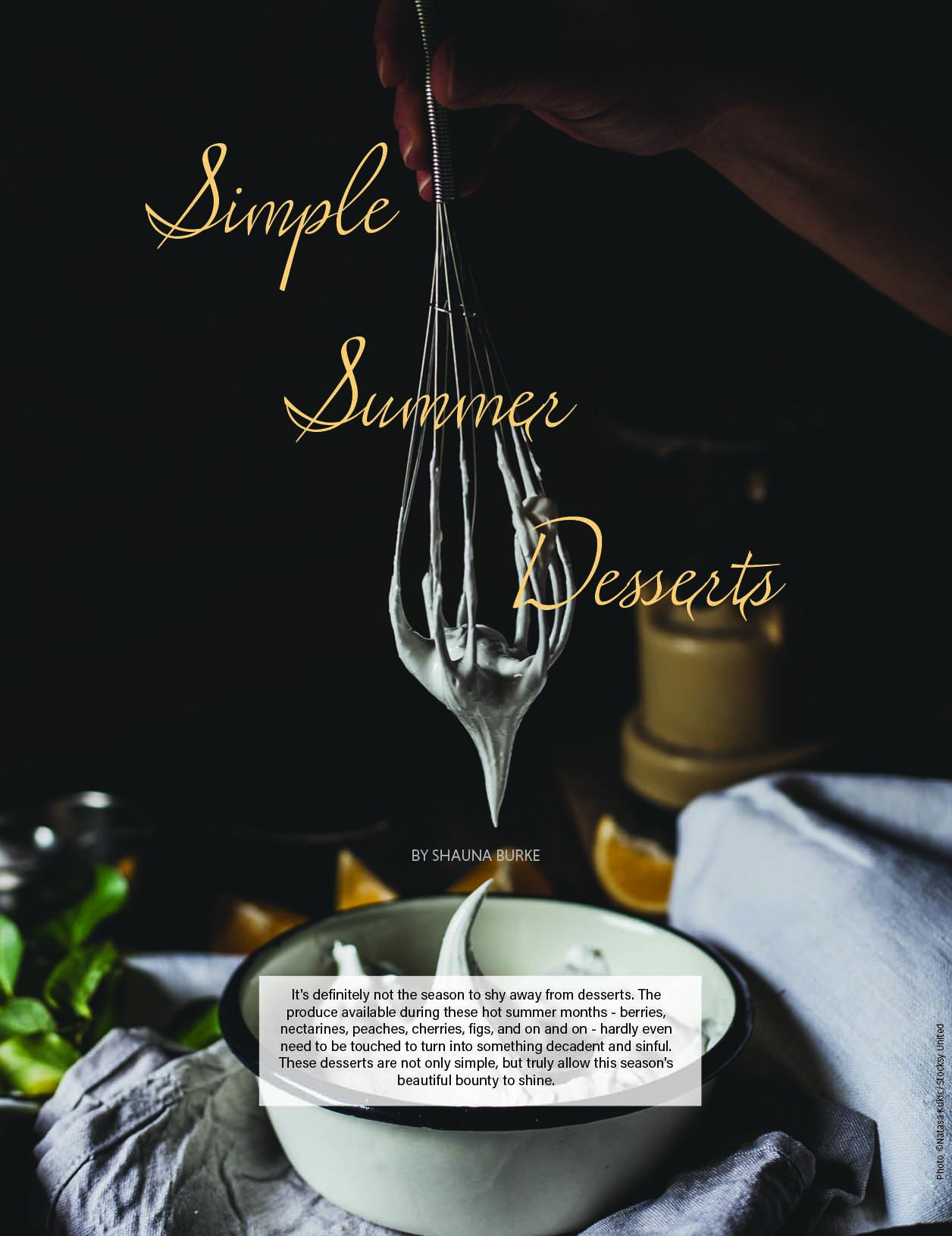 Simple Summer Desserts / Edible LA