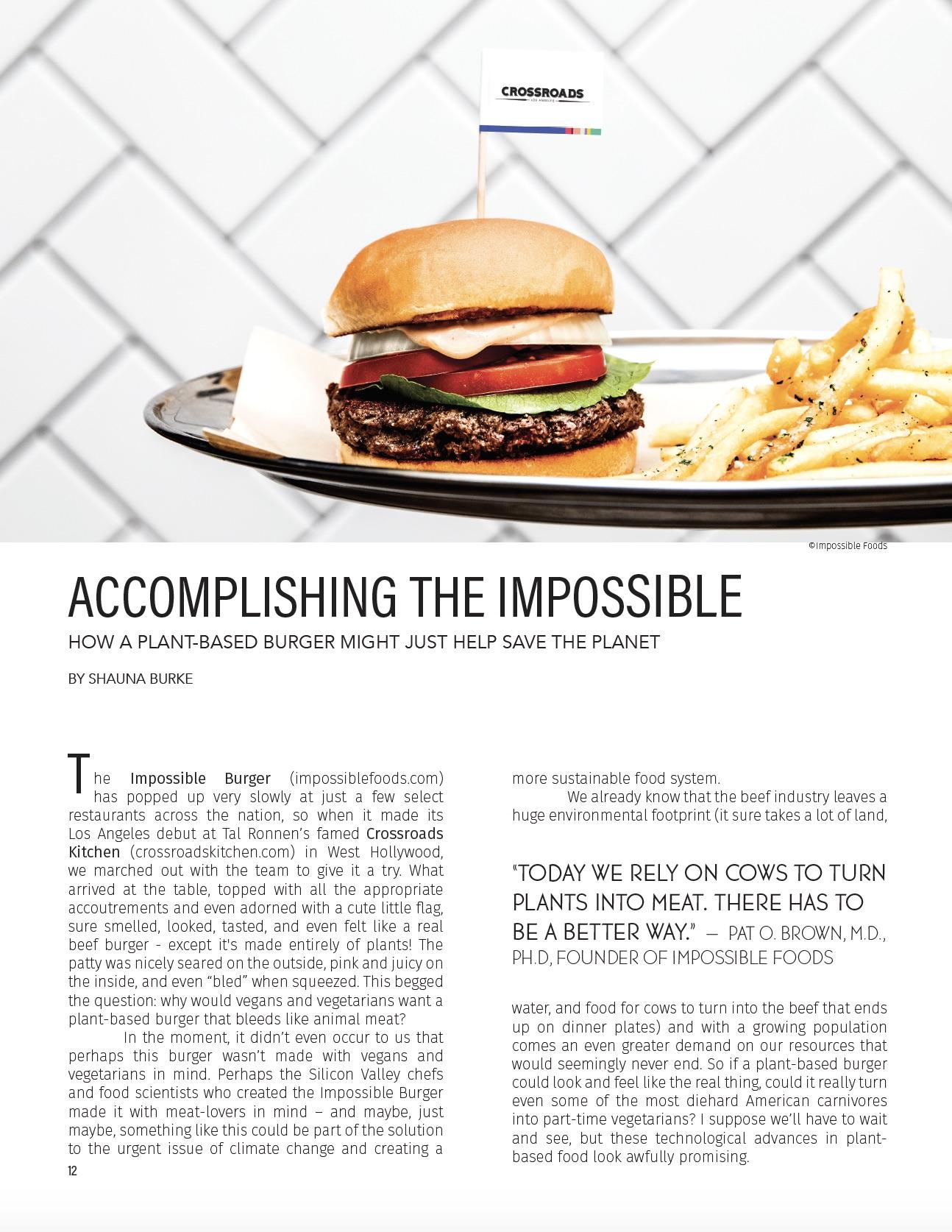 Accomplishing the Impossible / Edible LA