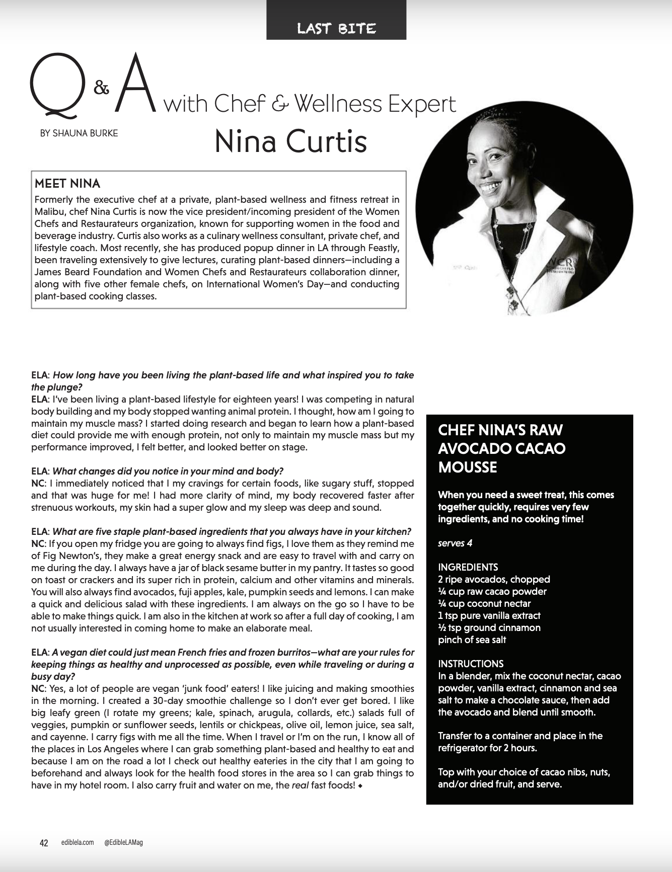 Q&A with Chef Nina Curtis