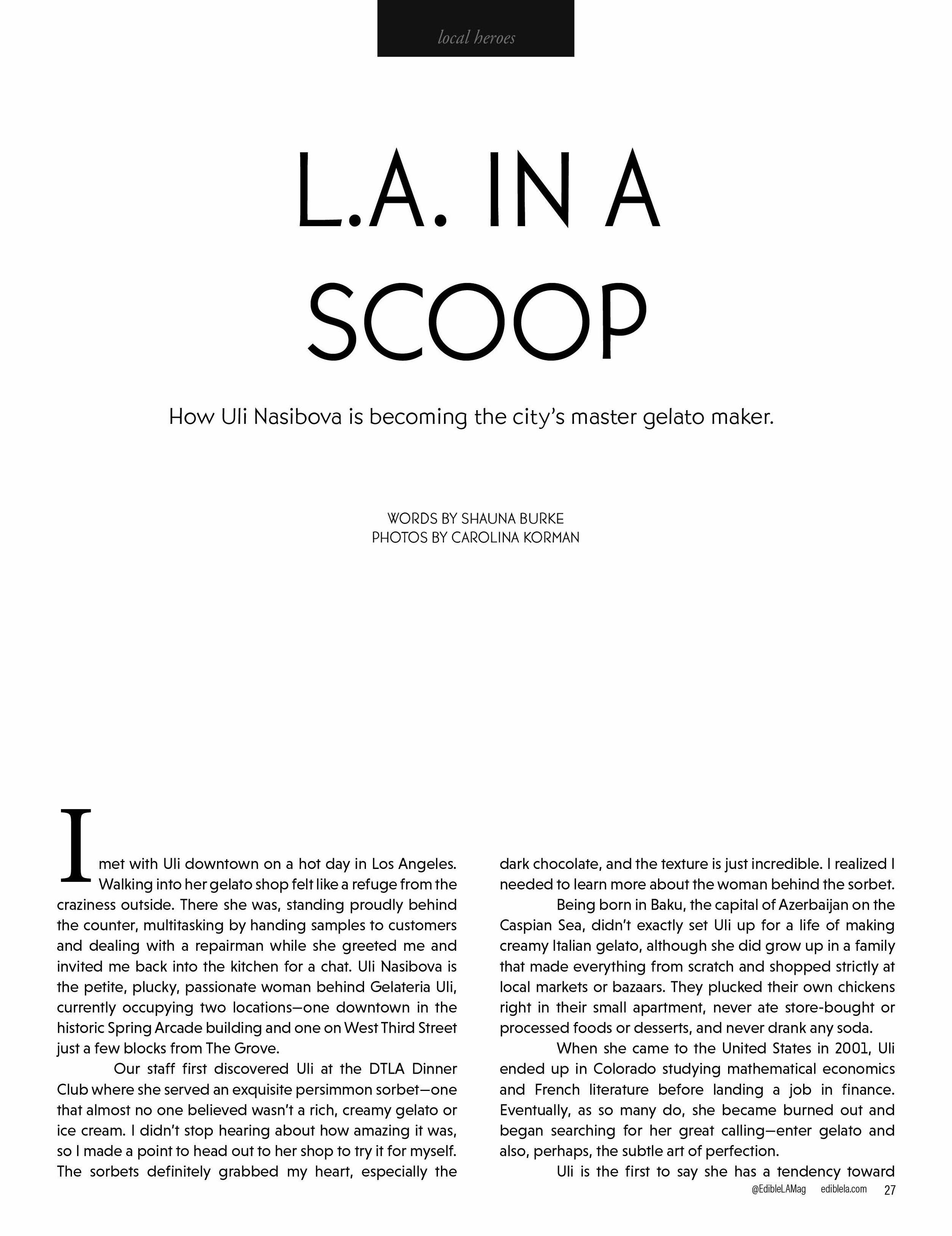 L.A. in a Scoop / Edible LA