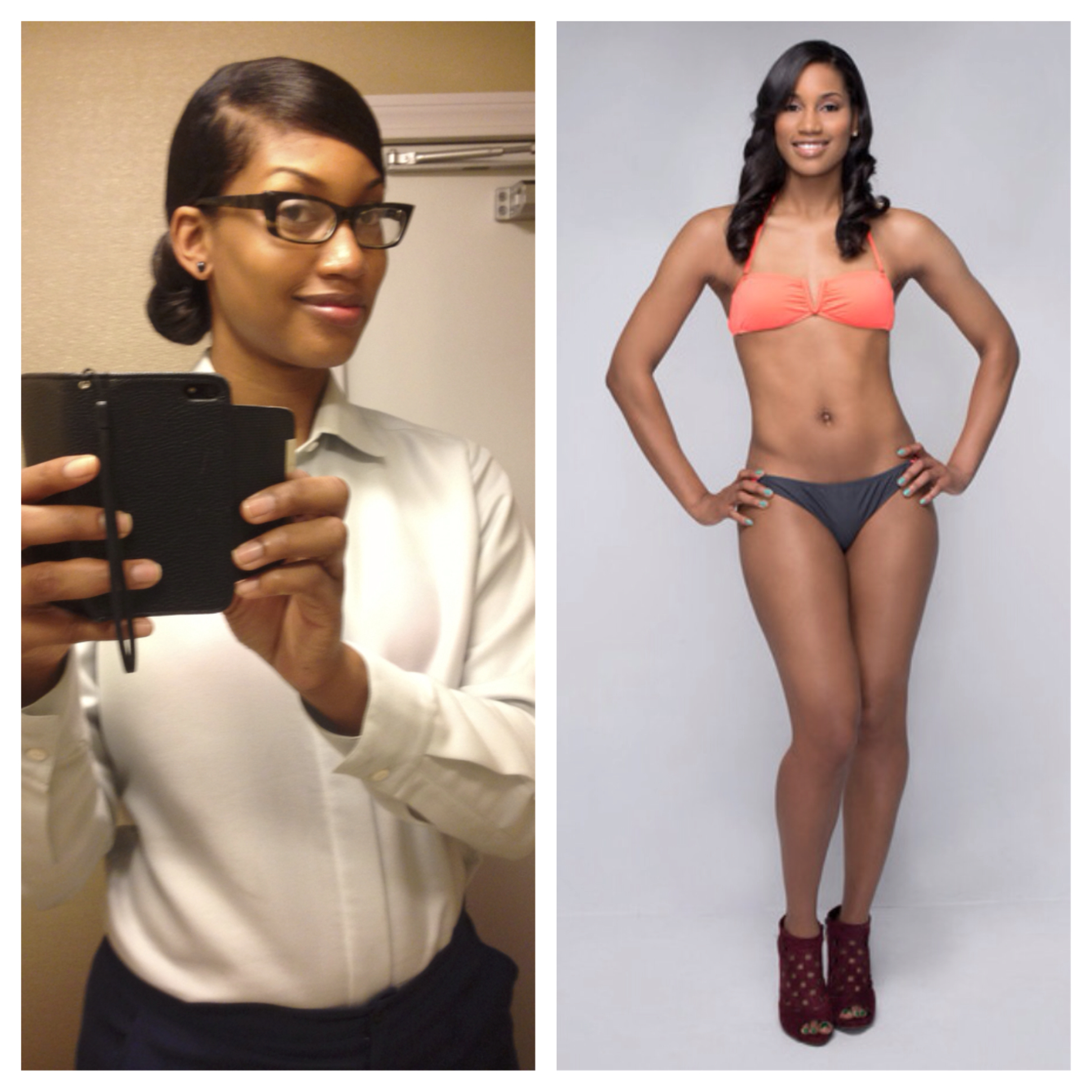 """""""Training with PT David Carson is the absolute best. I wasn't very knowledgeable about fitness a year ago and was concerned about getting too bulky and losing my """"curves"""" He was extremely patient and showed me 1) I first have to change my mindset and 2) I can be healthy, fit, and curvy in all the right places with hard work and dedication!"""""""