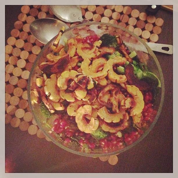 Ladies night. Winter vegetable salad. Grateful;)