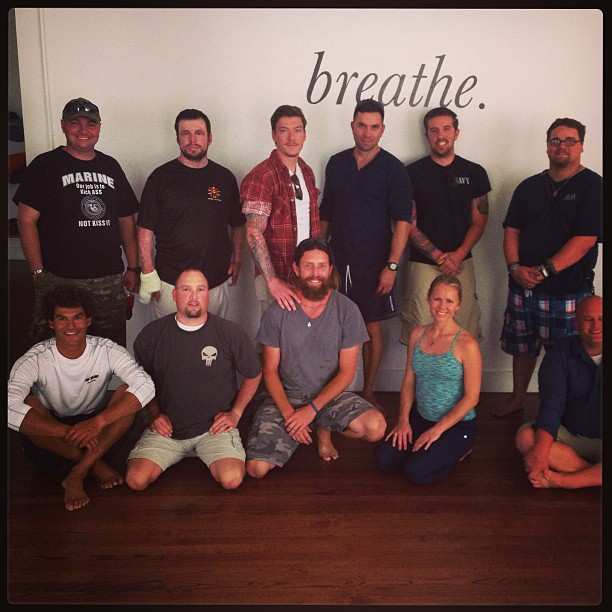 So honored to lead meditation for this crew-   Heart-warming and powerful.  #WoundedWarriors  Thank you to The Pad Studios for use of a beautiful space.