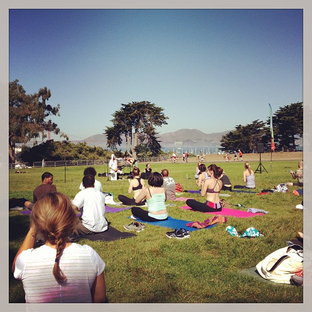 Yoga Rocks the Park- rocked my Saturday morning!;)
