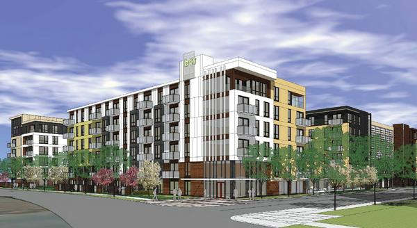 Above:  Lennar's 415 unit apartment project being developed in Bloomington, MN.