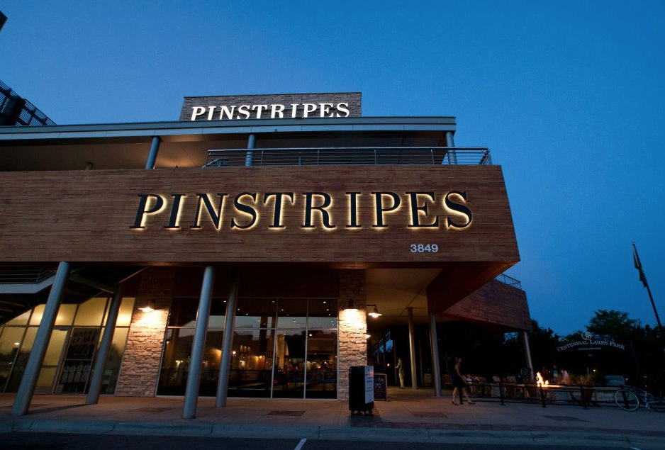 Above: Pinstripes location in Edina  (Pinstripes)
