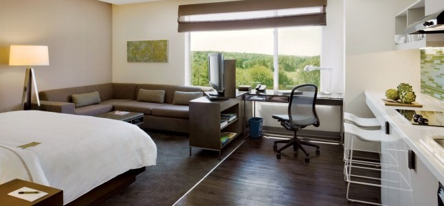 Above:  Elements by Westin standard suite  (Elements by Westin)