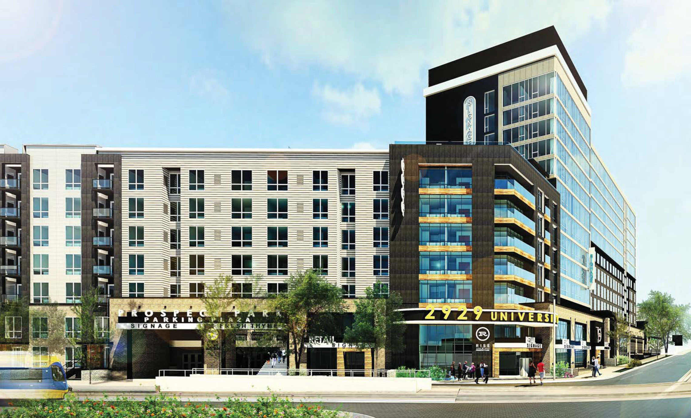 A rendering showing Rise at Prospect Par  k  |  Minneapolis Planning Commission