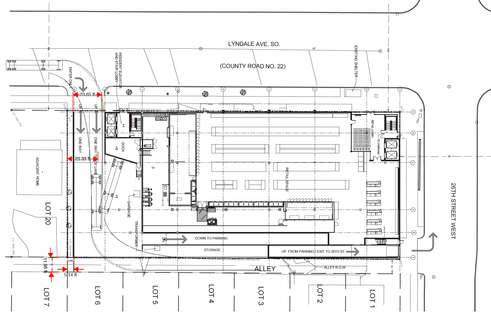 First Floor retail space showing grocery tenant  |  Minneapolis Planning Commission