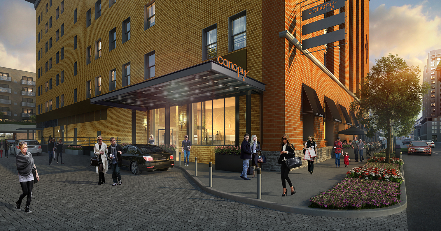 The drop-off area for the Canopy by Hilton planned for Downtown Minneapolis |  Canopy by Hilton