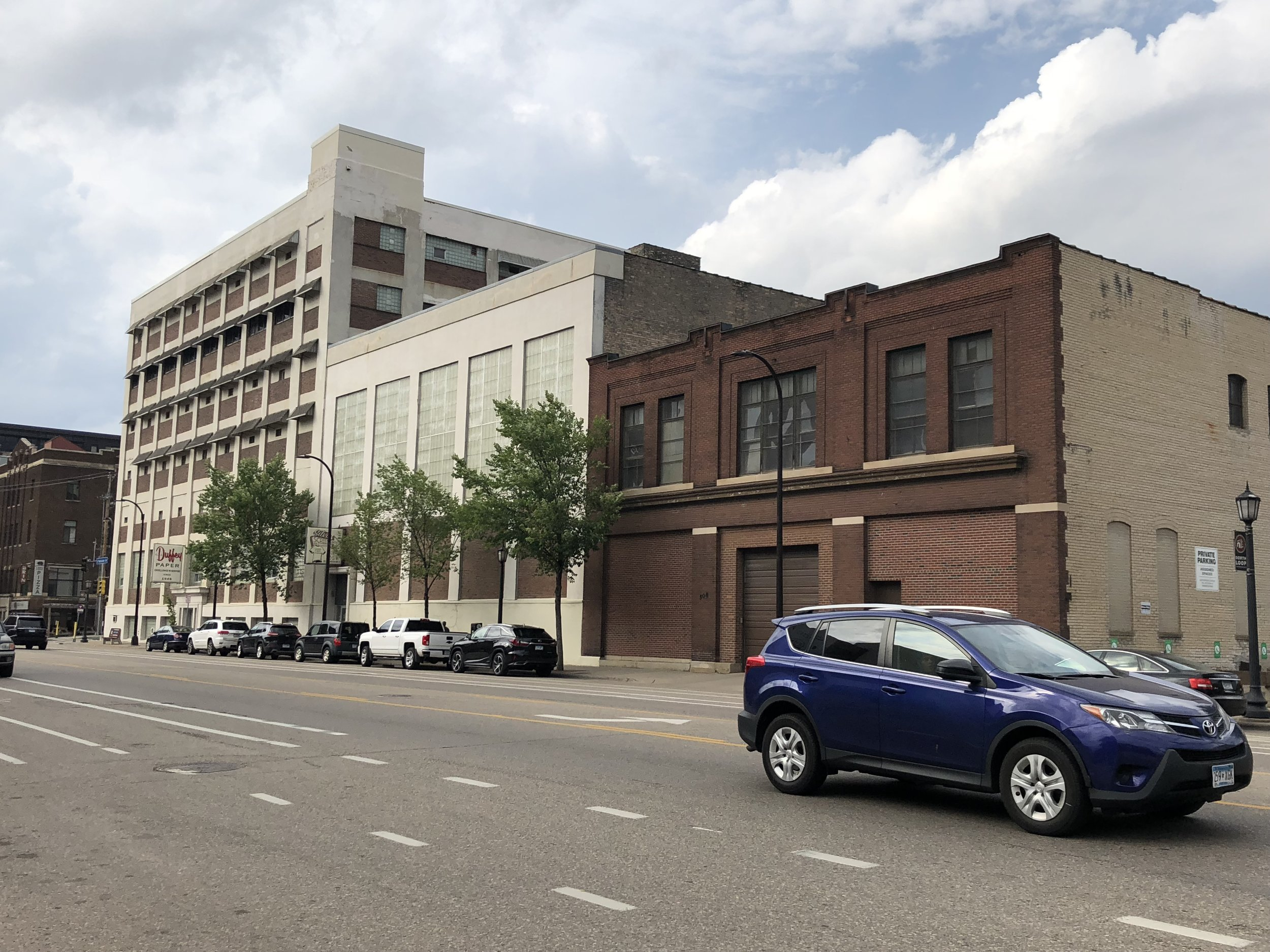 The three buildings Dominium plans to convert into housing