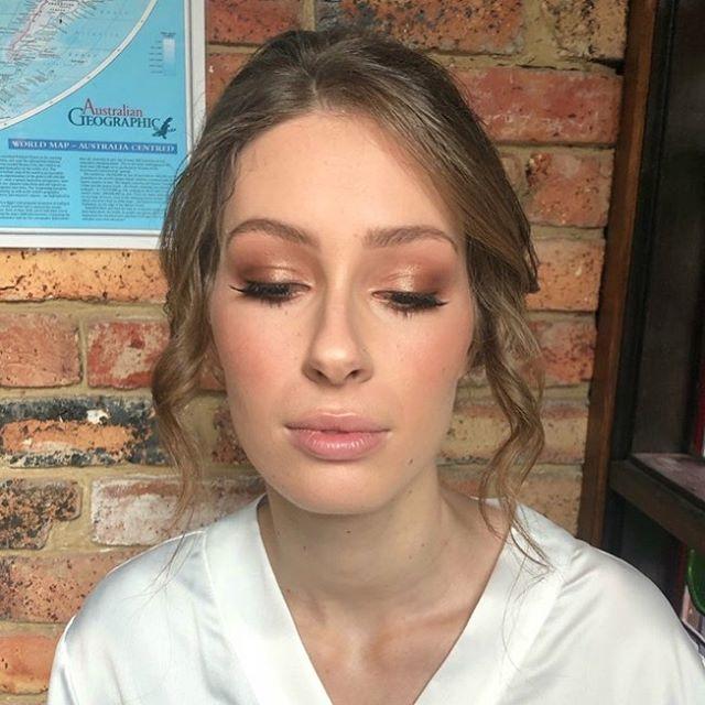 Makeup for our Beautiful Bride Hannah by Head Senior Artist Shelley @thebridalmakeupco
