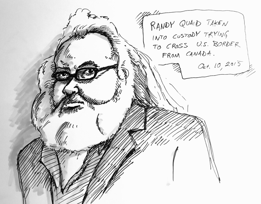 Warm up sketch from this morning. Poor Randy Quaid.