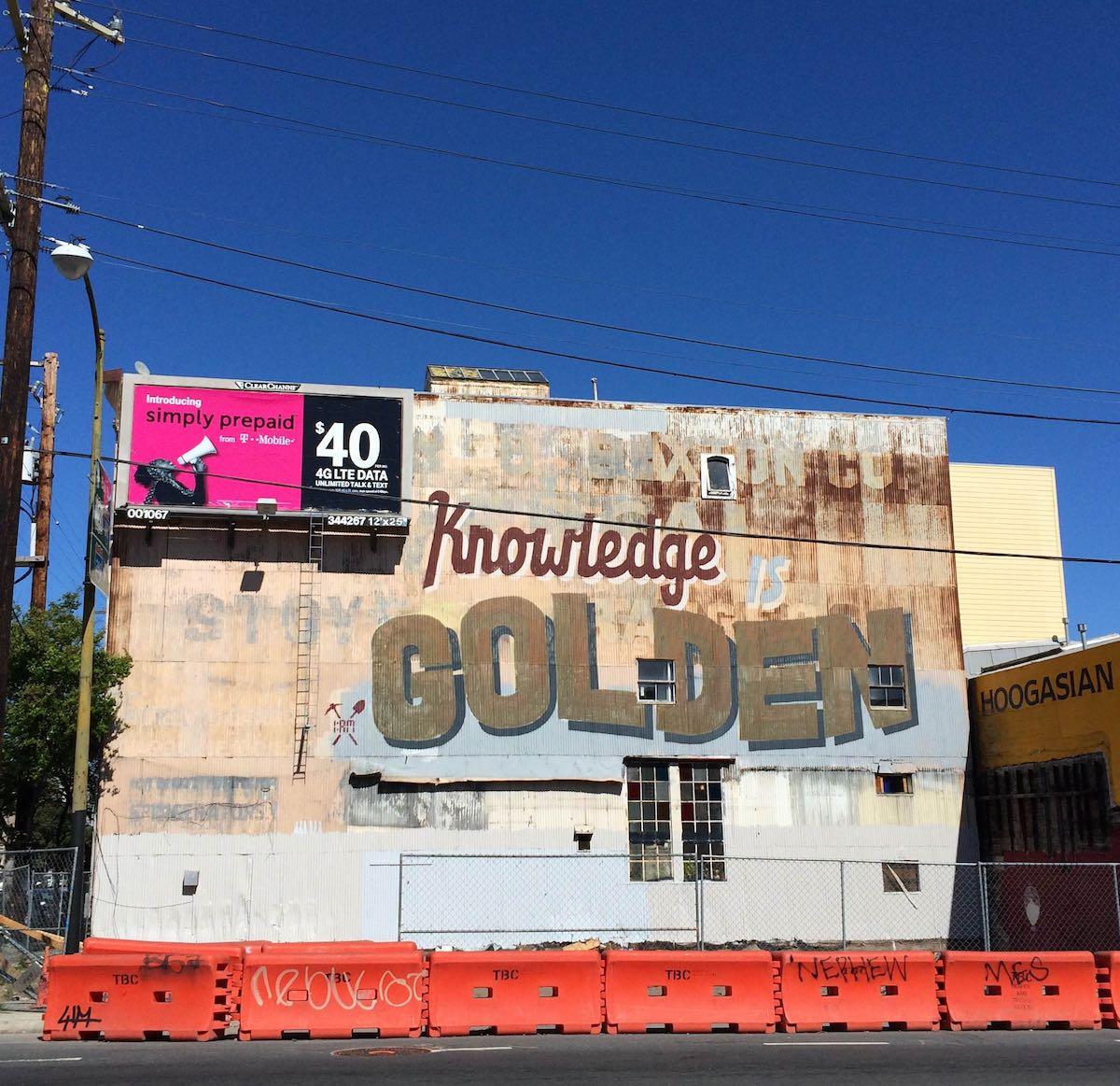 San Francisco Graffiti Typography Mural