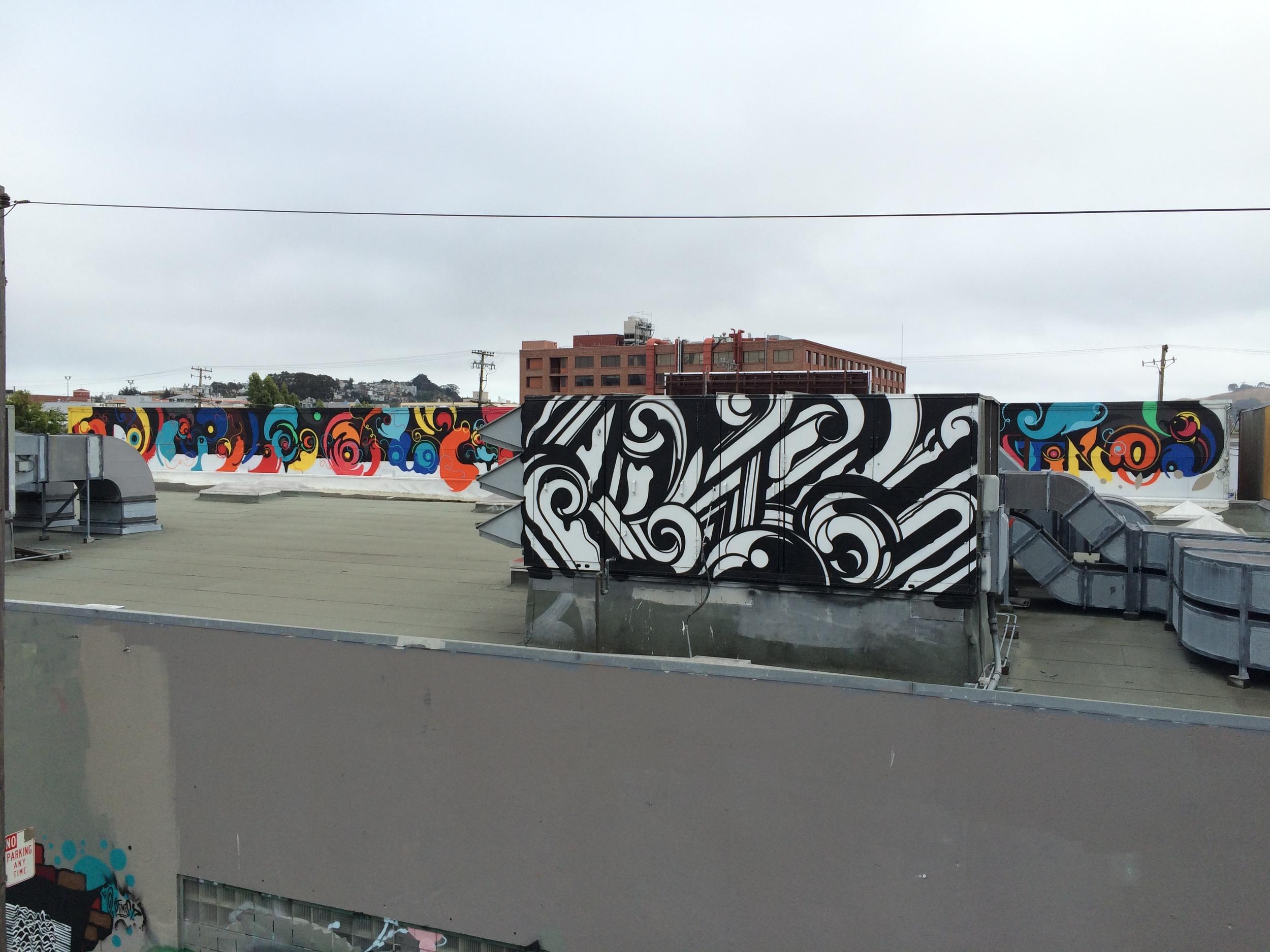 Reyes Rooftop Graffiti Mural San Francisco 3