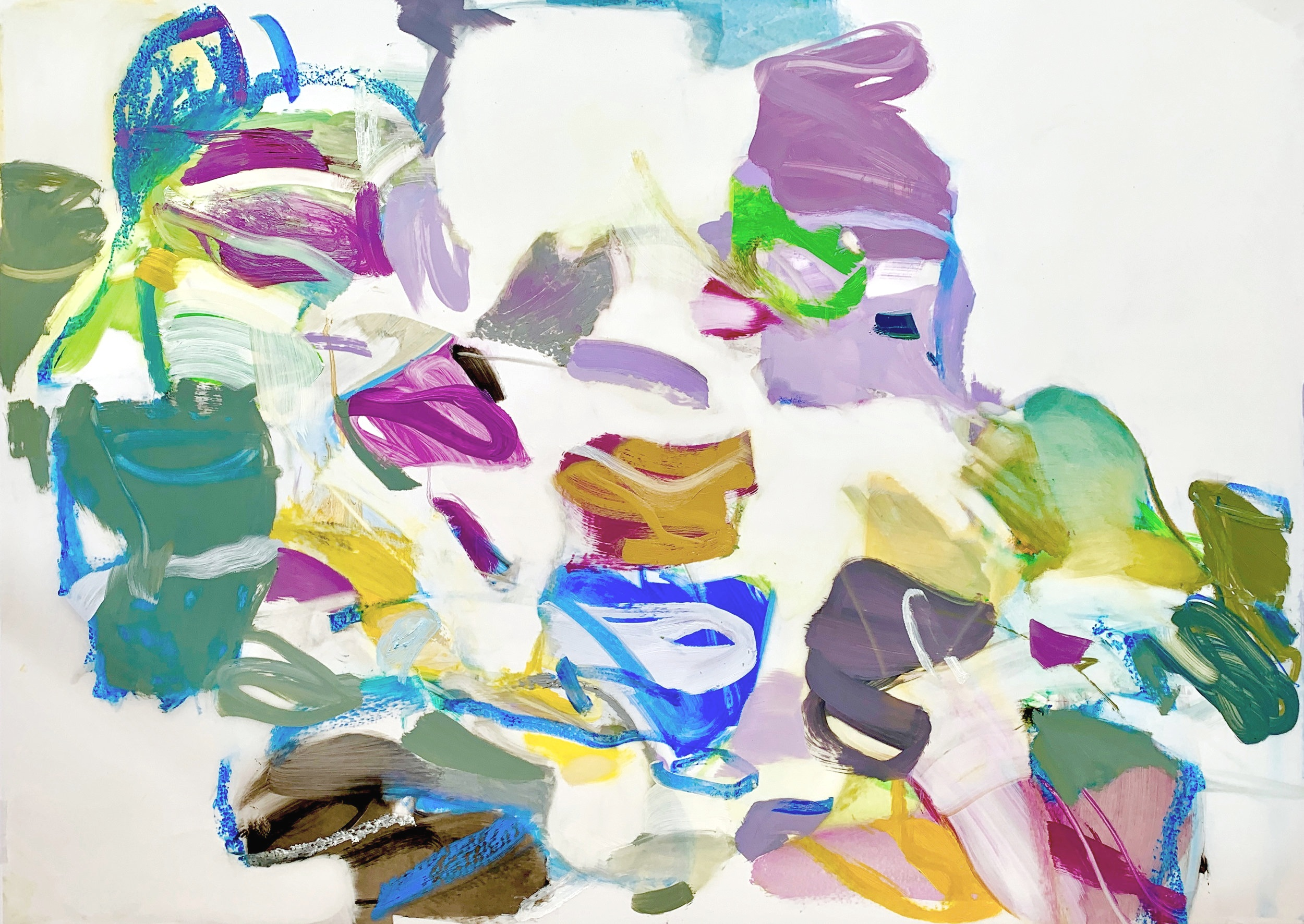 Abstract Vernacular  2019 40 ½ x 29 inches Oil on Mylar
