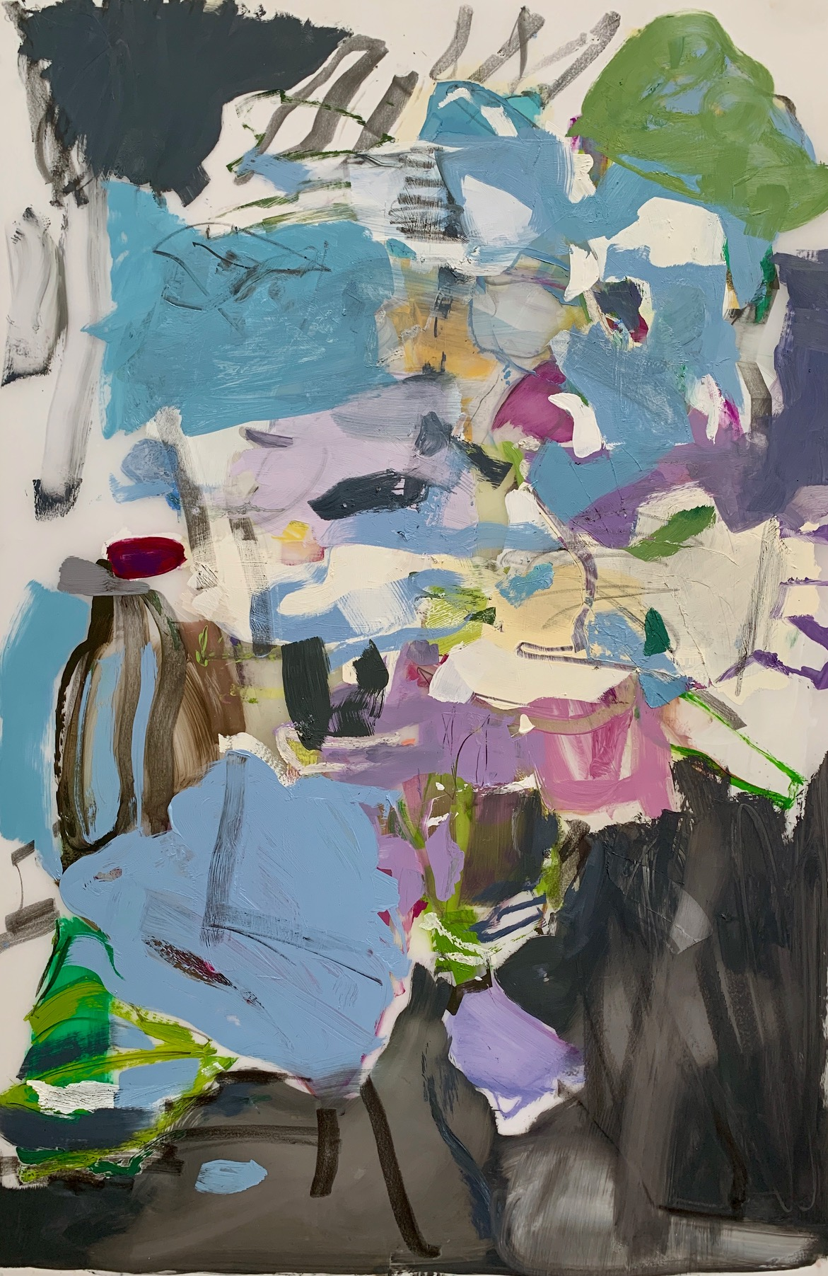 Resevoir  2019 23 x 35 inches Oil on Mylar
