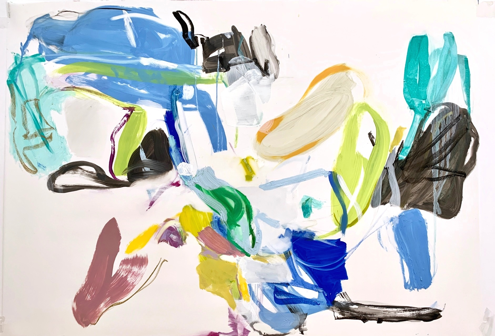 Five Seconds  2019 40 ½ x 29 inches Oil on Mylar