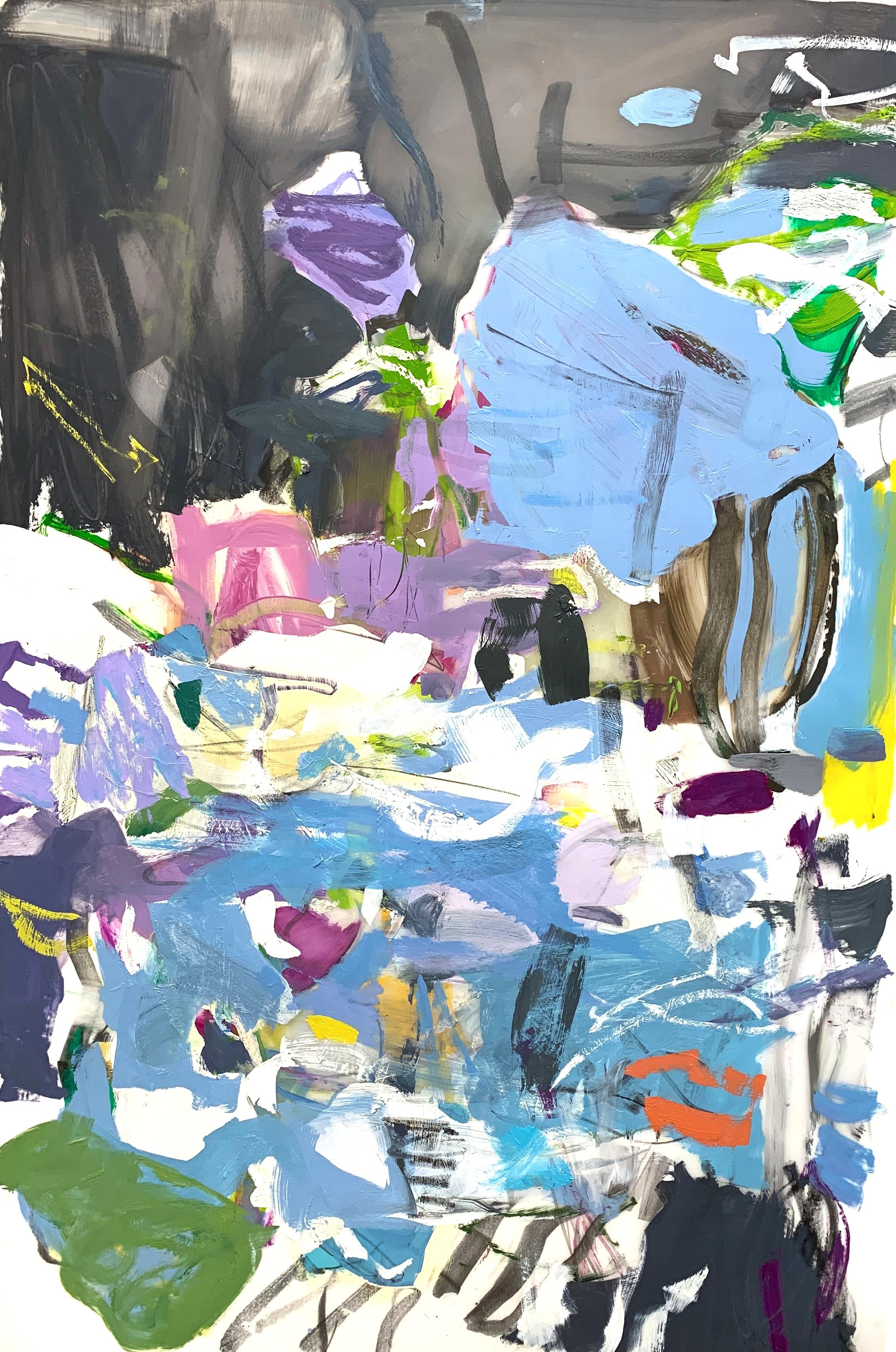 Reservoir , 2019, Oil/Oil Pastel on Mylar, 23 × 35 inches