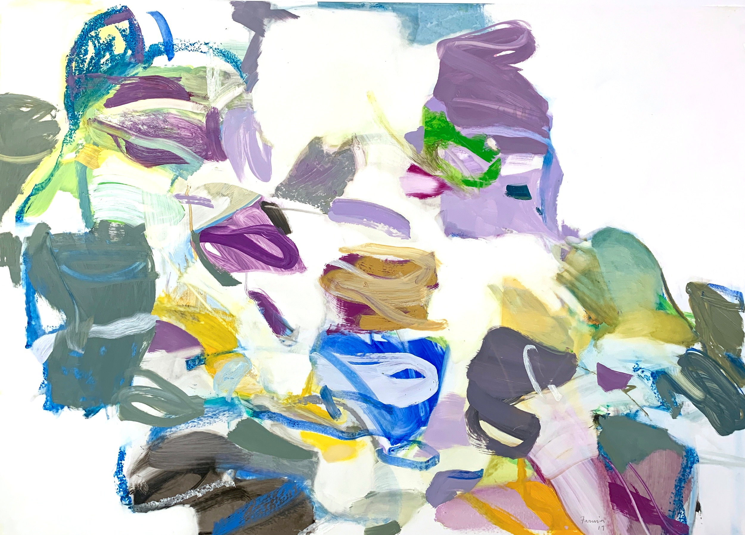 Abstract Vernacular , 2019, Oil/Oil Pastel on Mylar, 40 × 29 inches