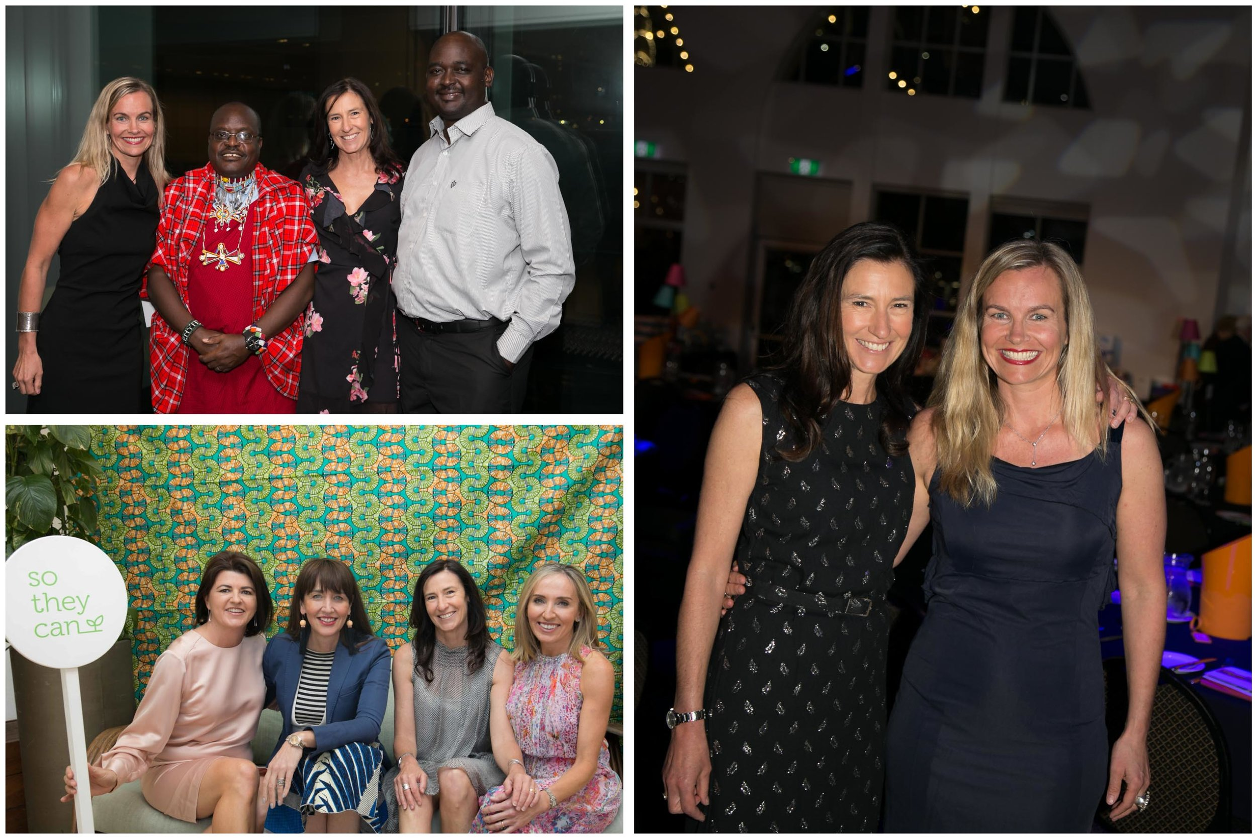 Here's Keri at various fundraising events throughout 2017 and 2018, with co-founder Cass, James & Boni (members of the team from Kenya) as well as Terri Anderson, sponsorship manager and STC ambassador Megan Morton with supporter, Nina Wines.