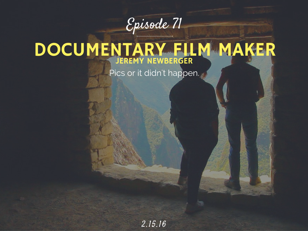 How to become a documentary film maker interview with Jeremy Newberger of Ironbound Films