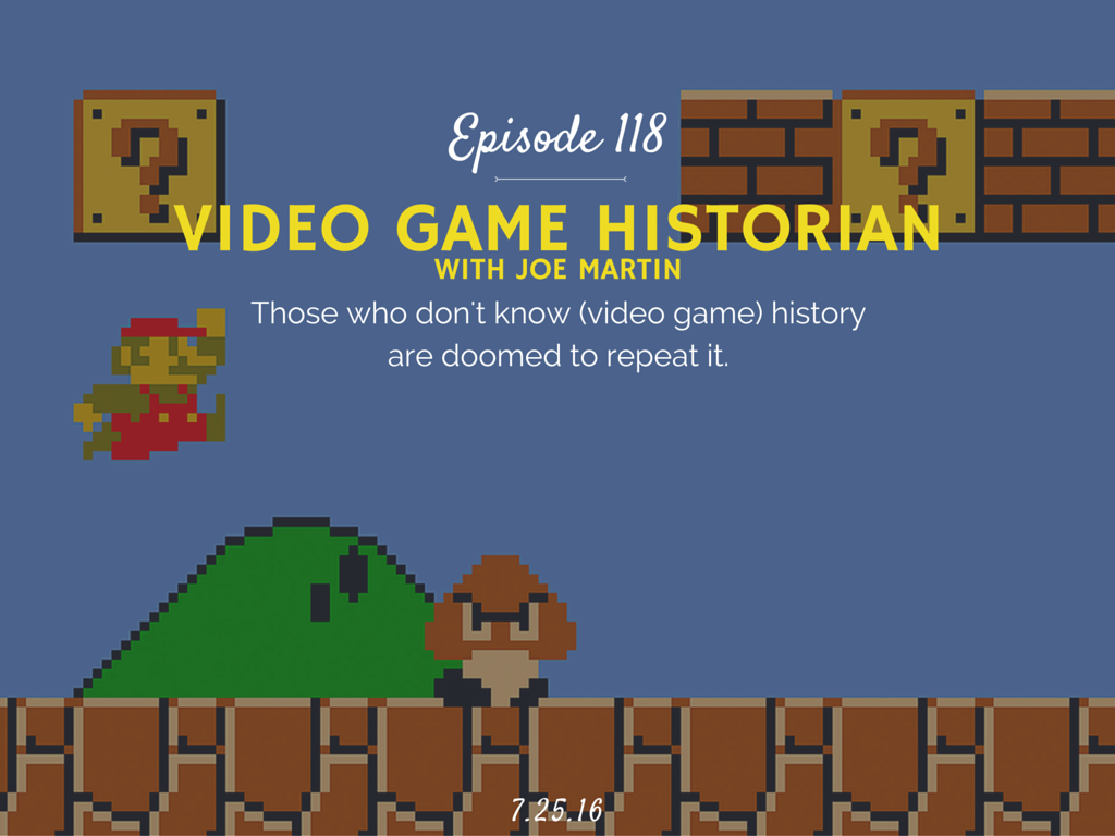 video game historian interview with Joe Martin