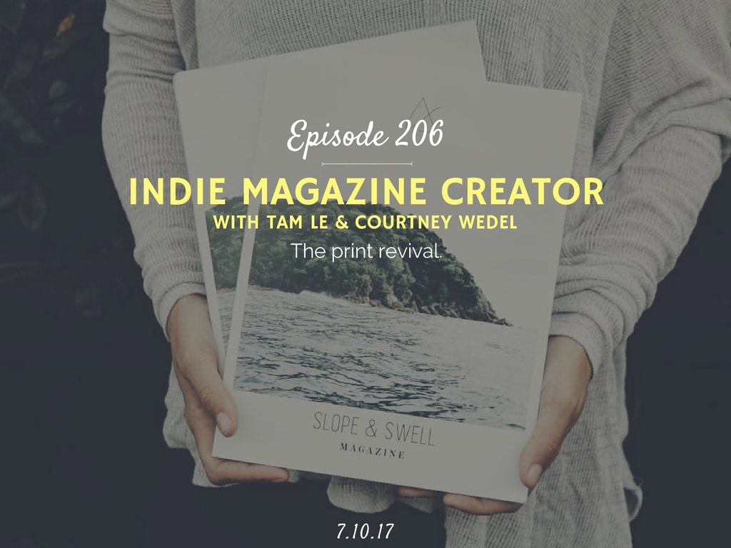 how to create your own magazine podcast interview with slope and swell